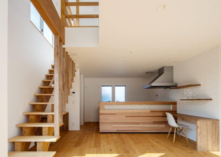 お洒落な木製階段