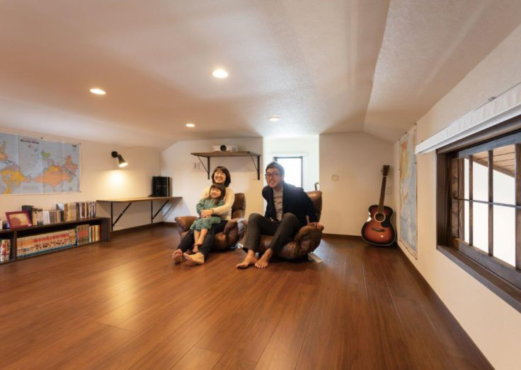 屋根裏や小屋裏空間をいかした「癒しのある暮らし」|広島の2×4新築注文住宅&リフォームなら マリモハウス
