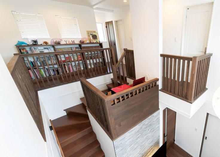 マリモハウスの施工事例より「スキップフロアと豊富な収納がある家」|広島の2×4新築注文住宅&リフォームならマリモハウス