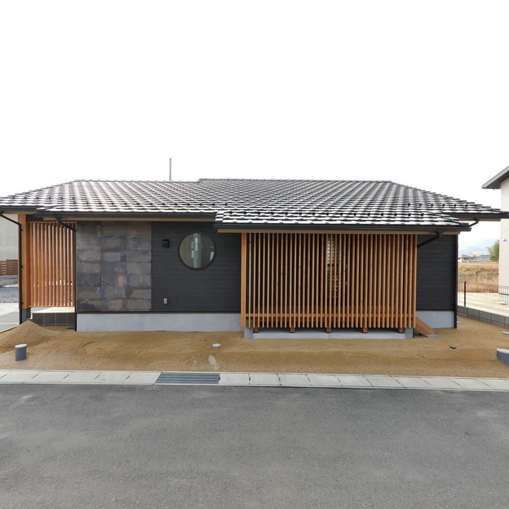 【和モダン】~平屋~ 丸窓と縦格子が美しい 設計コンセプトは「大和ごころ」~岩国市 F様~