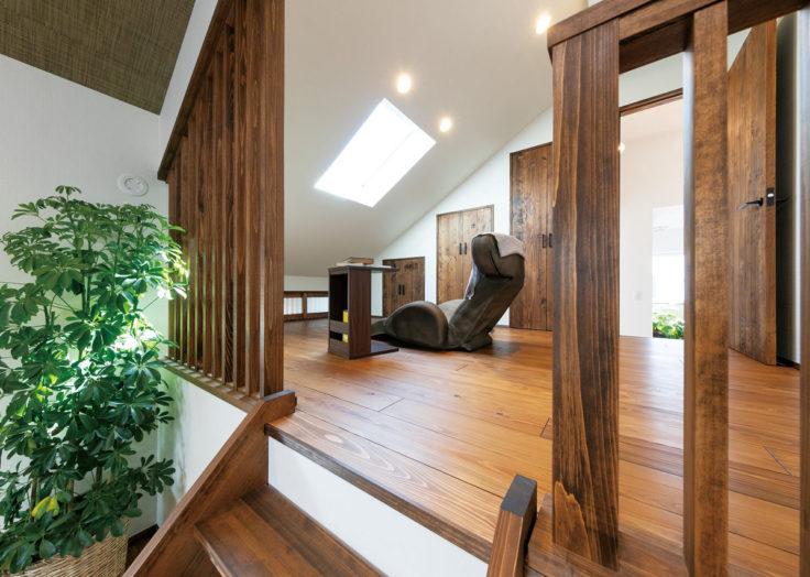マリモハウスの施工事例より「自然素材をふんだんに使ったモダンな和テイストの家」 広島の2×4新築注文住宅&リフォームならマリモハウス