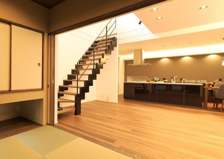 マリモハウスの施工事例より「和室のあるデザインハウス」 広島の注文住宅 新築 工務店