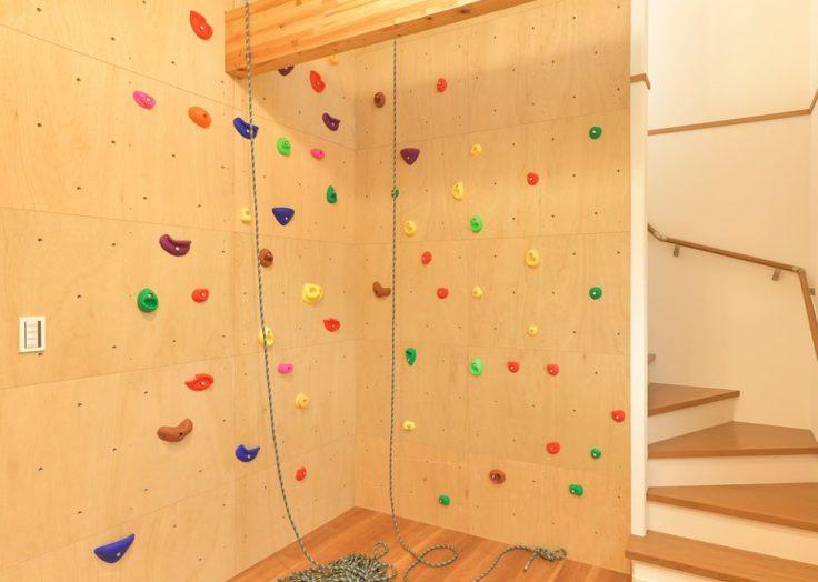 マリモハウスの施工事例より「ボルダリングルームのあるデザインハウス」|広島の2×4新築注文住宅&リフォームなマリモハウス