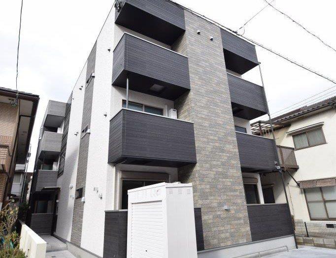 【木造アパート】木造3階建て 12戸 ワンフロアに4部屋のアパート建築