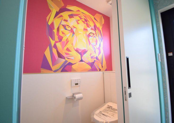 インパクトのあるトイレ